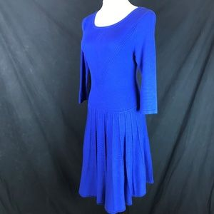 Vince Camuto Royal Blue 3/4 Sleeve Sweater Dress
